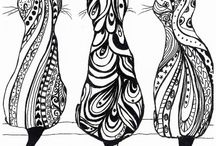 Zentangle blanco y negro