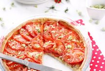 Quiche. Pizza  Tarte salee