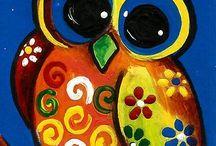 Owl paintings