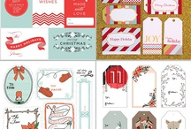 Christmas Crafts / Ideas for making christmas wrap and tags