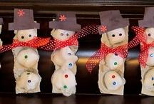 sneeuw, kerst winter knutsels