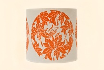 Hand printed lampshades by Moji Designs