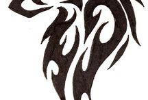 (Zwierzęta=koty, lisy, wilki, konie, lwy). (Natura=rośliny). (tatuaże)♥♥♥.