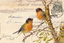 vintage christmas birds