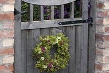 Through the garden gate / by Shirlee Mitchell