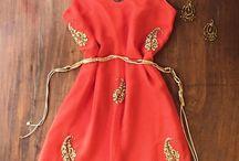 vestidos cortos bordados