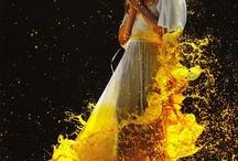 Mood Board Water, Paint, Liquid Motion Photo Shoot