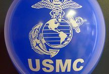 US Marine Corp Logo Balloons / Balloons printed for the USMC by CSA Balloons.