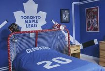Hockey room decor