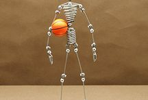 """Sports Player Action Figures 7"""" Wire Mannegquins / IT'S ADDICTING! 7 Inch Basketball and Soccer Player Wire Puppet Toy Mannequins have 26 moving joints to position your sports player in that perfect player's pose. Made with steel wire, enjoy your action figure for many years and change the pose as often as you like to make an unlimited number of various positions for your NBA or FIFA player! It's addicting! / by NYCwebStore .com"""