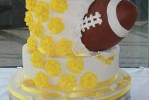 American Football themed wedding
