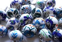 Hand painted Artisan Range  / Stunning hand painted kitchen cupboard and drawer knobs