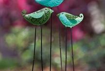 vögel mit drahtfüssen