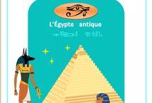 L'Egypte antique / Lapbook sur l'Egypte antique, de l'Association Carpe Diem
