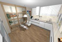 Nuestras infografías de cocinas / Una de las zonas clave de todas las viviendas es la cocina. Así es como las presentamos. Clásicas, modernas, americanas...un estilo para cada cliente.