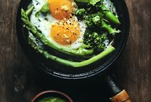 Stove top eggs with brocoli