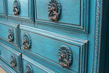 Turquoise slaapkamer
