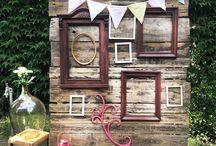 Chetres esküvői dekorációk / Esküvői dekorációnk tárgyai mind saját kezűleg készültek.