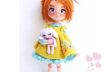 Crochet and knit doll clothes