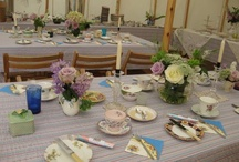 Traditional English Tea Party in a Marquee