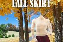 Fall Inspiration / This Fall - let your skirt go long and wild!