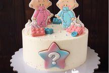 Мальчик девочка торт