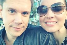 Sarah Joy and David Miller / David Miller from Il Divo with his wife.