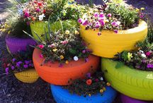 outside decor and gardening / by Sandra Hurt
