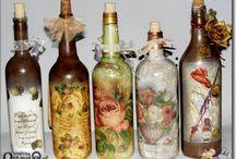 декорирование баночек и бутылок