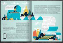 Magazine design / Magazines and newspapers graphic design