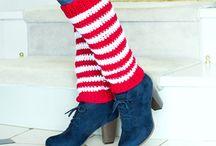Crochet Leg warmers, fingerless gloves, headbands