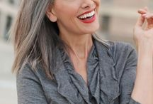 Beautiful grey hair / I love grey hair and all its many variations.