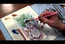 vídeo porcelaing painting