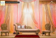 Wedding Stages & Backdrops / Colorful bold rich colors, soft romantic fabric drapes with the perfect lighting creates the stage for your event. Check out what we have created for our clients