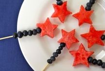 4th of July decorating and sweets / 4th of July and American decorations, party ideas, BBQ recipes and desserts