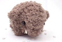 stuffed creatures / stuffed and crocheted animals, monsters, etc