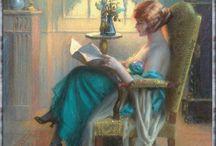 Gif literarios / Imágenes animadas de fantasía o reales sobre libros.