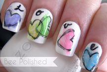 Uñas / Blanco y + / white nail art