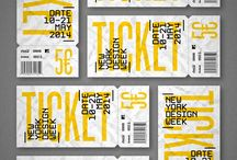 Inspiration Gallery: Ticket Designs