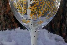 üveg, pohár festés