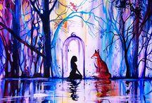 Watercolor paintings / Watercolor paintings by Vivien Szaniszlo. Animal and nature inspired, surreal watercolor paintings.