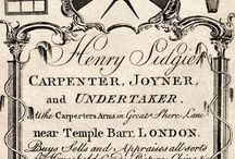 18th century cards&signboards