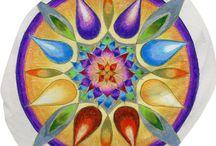 My mandala on Bean Bag / You can buy my drawings printed on Bean Bag