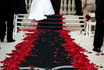 Red and Black wedding / Planning a red and black wedding? Or a roulette themed wedding... then use this mood board to inspire your special day. We have some fabulous products and petals that fit perfectly with this theme.