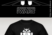 iWars apparel / Star wars characters turn into iPhones and Android robot parodies in this awesome t-shirt and apparel series