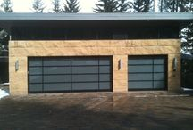 Glass Garage Doors - bp-550 / BP-550 SHD Glass Garage Doors are used for larger installations and can range from 17 ft to 24 ft wide.