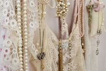 Pearls with Lace / lace clothing, pearls and lovely lace