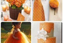 Bodas en naranja / El naranja va muy bien con tu boda.