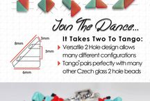 Tango™ Bead / The Bead Master exclusive new Czech glass Tango™ bead features a revolutionary 2 hole triangle shape that allows for multiple configurations.