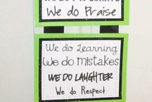 Classroom Decor / These are posters, set ups and displays in classrooms that I find engaging and visually appealing